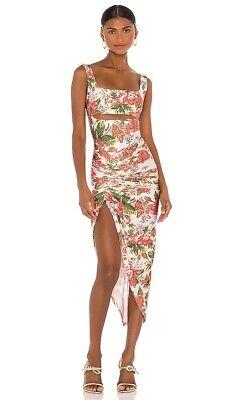 RAISA&VANESSA X REVOLVE Dress Pink Floral Cut Out 36/4 NWOT Luxury $405