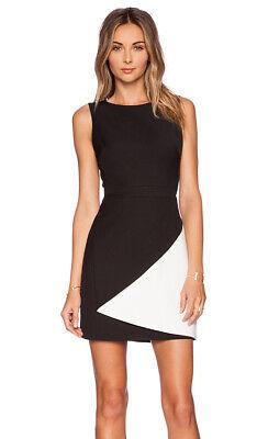 "BCBG MAX AZRIA ""Jesica"" Black White Color-Block Bandage Dress Sz 0"