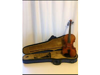 German HOPF 1973 Acoustic 4/4 Violin, Bow & Case