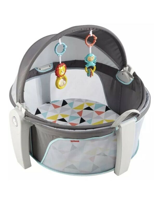 Fisher-Price On-The-Go Baby Dome, Grey and White