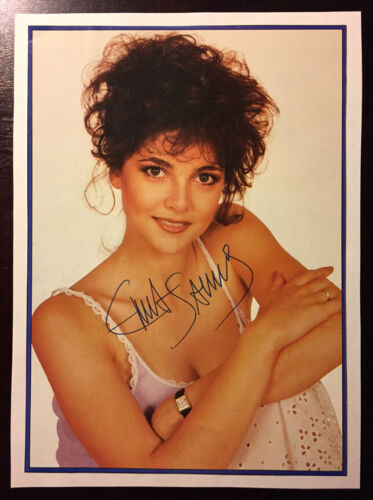"Emma Samms Autograph Signed Clipping 6.5"" X 9"" Actress General Hospital"