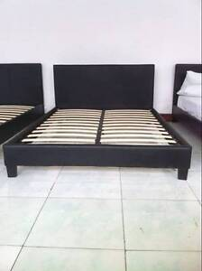 Brand New PU Leather Bed Frame Double/Queen size Black or White Hoppers Crossing Wyndham Area Preview