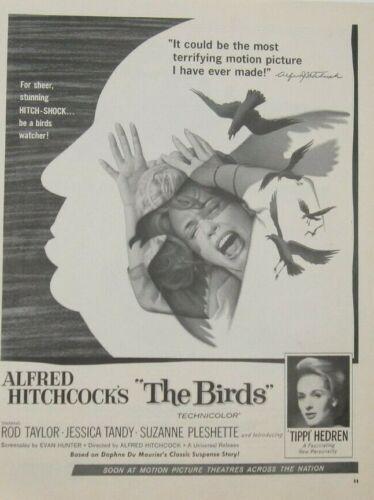 "Alfred Hitchcocks ""The Birds""/Volkswagon/Chrysler Trucks Print Ads (B12)"