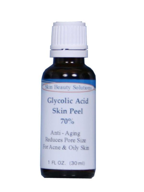1oz GLYCOLIC Acid Skin Peel 70%-Wrinkles, Anti-Aging, Anti-Acne, Large Pores, ++