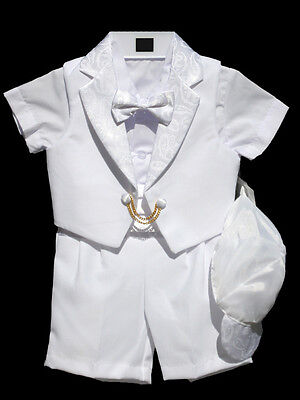 Boys Infant Toddler Christening Baptism Outfit, White, Size: Small To 4t