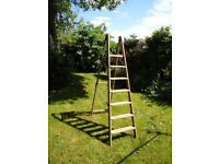 Fabulous original wooden ladder - ideal for shabby chic project or as a storage solution