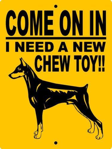 DOBERMAN PINSCHER  ALUMINUM SIGN VINYL DECAL DOG WARNING  CTDP