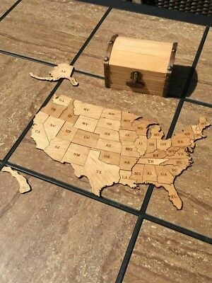Kids Wooden Usa Map (USA puzzle map, Wooden toy game  )