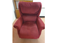 Rise and recline arm chair - Burgundy