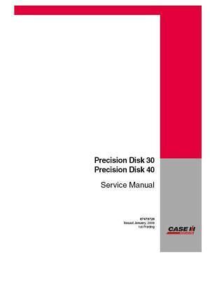 Case Ih Precision Disk 3040 Service Manual