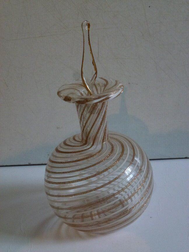 Egyptian blown glass perfume bottles - set of 7 of various designs