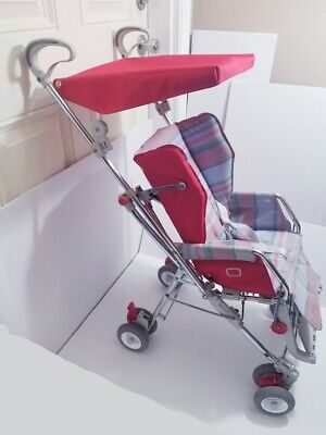 Vintage Peg Perego Classic Umbrella Stroller, Red