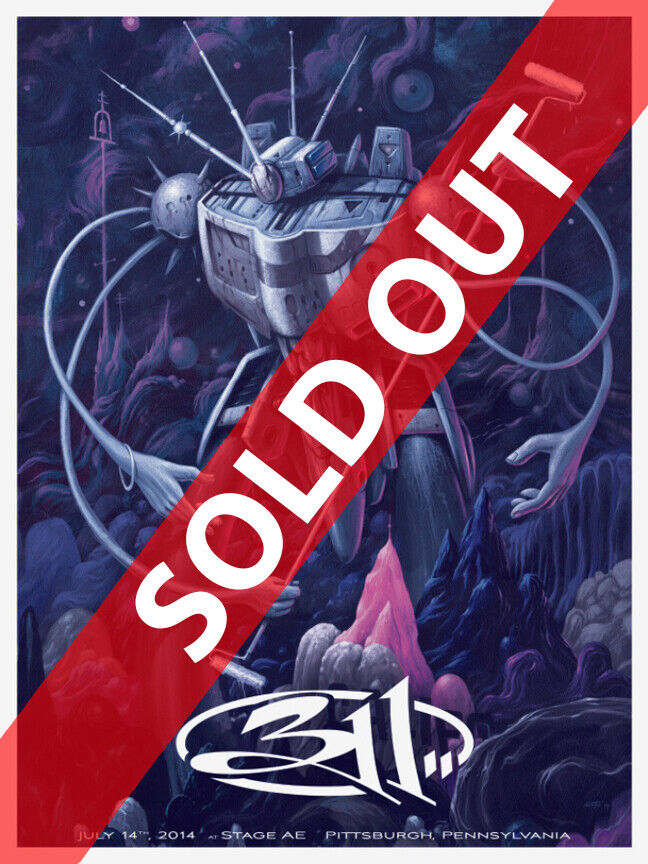 311 Concert Poster - Plum Variant - Jeff Soto - Limited Edition Of 4 - $299.99