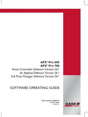 Case Ih Afs Pro 600700 Raven Control V263rd Party Manager Software V26 Operato