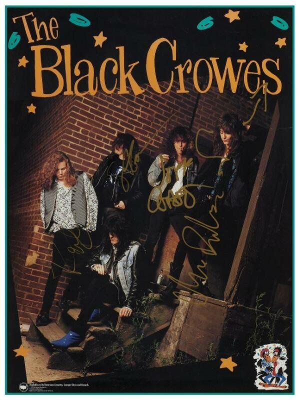 the Black Crowes - POSTER - Shake Your Money Maker promo - w/AUTOGRAPHS