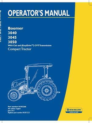 New Holland Boomer 304030453050 With Cab Easydrive Cvt Trans Compact Trac Op