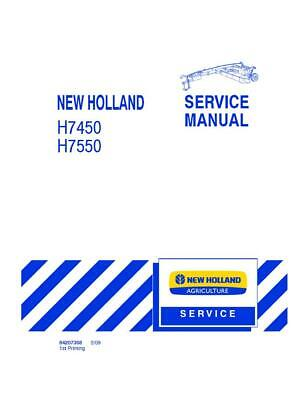 New Holland H7450h7550 Discbine Disc Mower Conditoner Service Manual