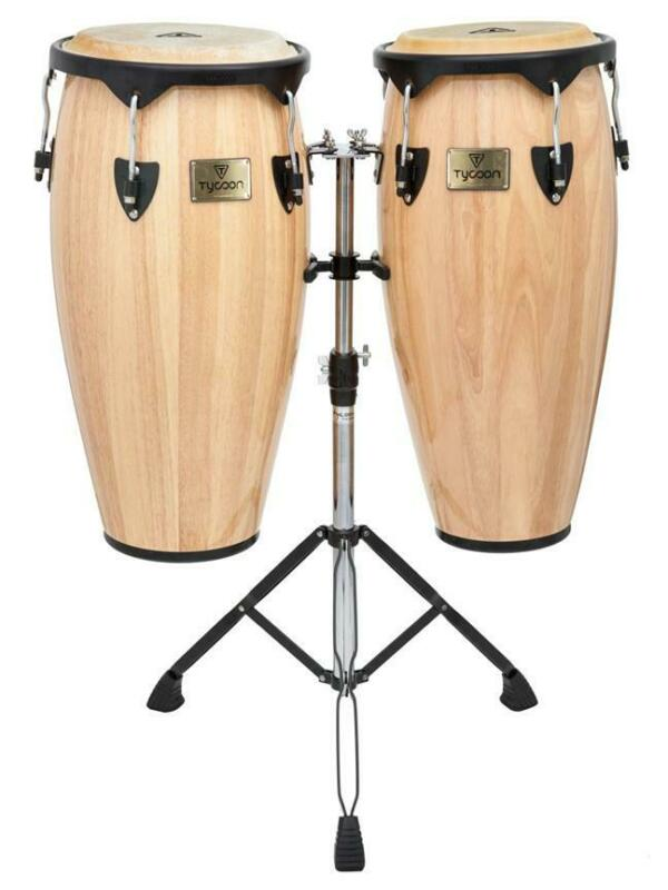 TYCOON PERCUSSION Instrument Supremo Natural Set of 10 & 11 Inch CONGA DRUMS