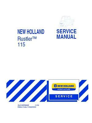 New Holland Nh Rustler 115 Gas Utility Vehicle Service Manual