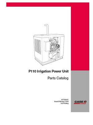 Case Ih P110 Irrigation Power Unit Parts Catalog