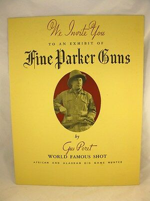 Parker Gun Co Gus Peret Trick Shooting exibition poster Circa 1930's