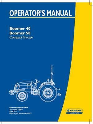 New Holland Boomer 40 Boomer 50 Compact Tractor Operators Manual