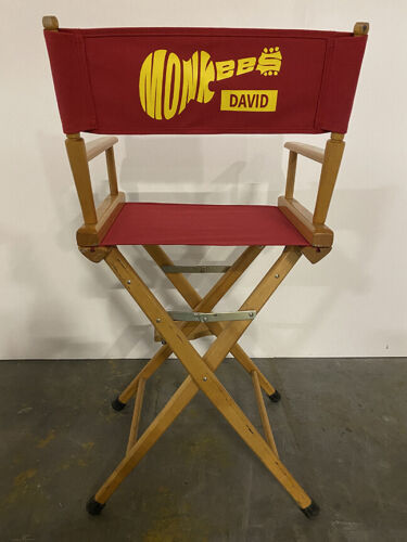 The MONKEES Red Canvas Directors Chair Can Be CUSTOMIZED WITH YOUR NAME