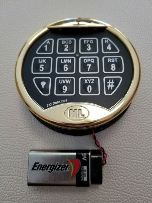 NEW NL Brand Superior Electronic Safe Lock with Lighted Brass-Tone Keypad