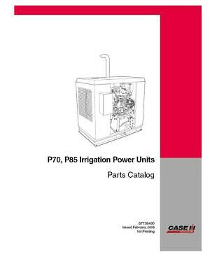Case Ih P70 P85 Irrigation Power Units Parts Catalog