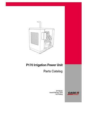 Case Ih P170 Irrigation Power Unit Parts Catalog