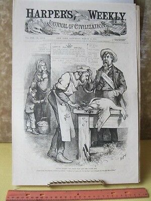 Vintage Print Labor Against Capital Thomas Nast Harpers Politics March 16  1878