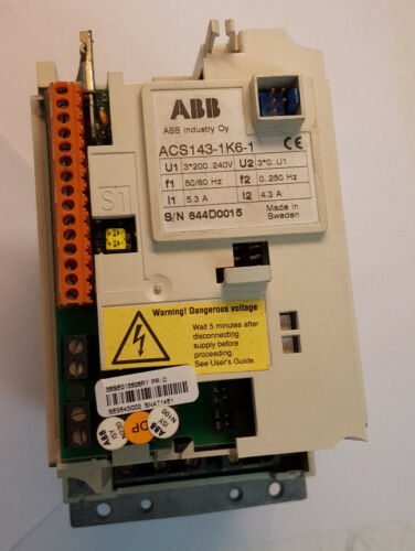 ABB -  ACS143-1k6-1 VFD Variable AC Motor Drive - Used - Good Condition See Pics