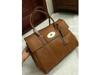 Tan Leather Mulberry Bayswater Bag