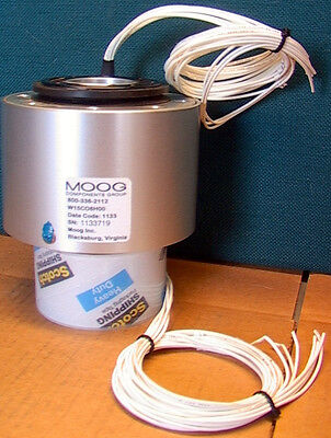 Moog W15co8h00 8 Wire 1.5 Slip Ring Assembly 1000 Rpm 20 Awg