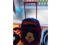 Mickey mouse bag with pull up handle