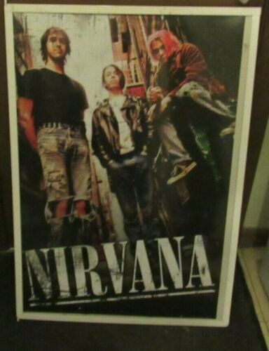 NIRVANA POSTER NEW EARLY 2002 RARE VINTAGE COLLECTIBLE OOP  KURT COBAIN
