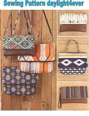 Women Bag Purse Clutch, Wristlet Purse 2 Sizes Sewing Pattern 8028 New #k (Clutch Purse Sewing Pattern)
