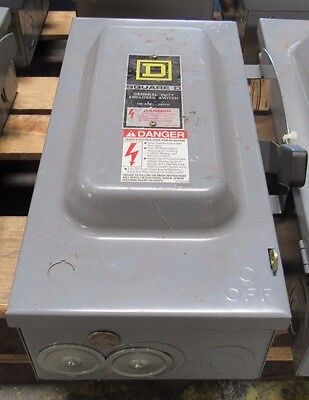 Square D Safety Switch D323n F1 100 Amp 240 V General Duty Enclosed Switch