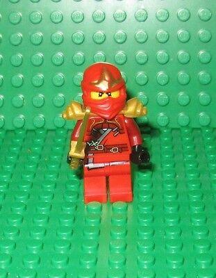 LEGO NINJAGO red Ninja Kai ZX Minifigure WITH gold sword weapon minifig
