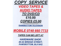 COPY VIDEO /AUDIO TAPES TO DVD/CD