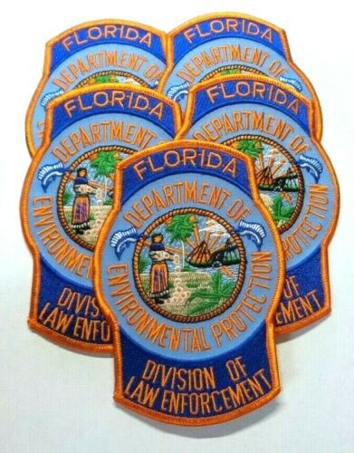 (5) FLORIDA DEPARTMENT OF ENVIRONMENTAL PROTECTION LAW ENFORCEMENT PATCH UNUSED