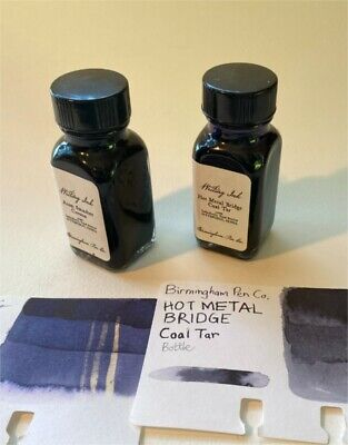 Birmingham Pen Co. Fountain Pen Ink lot: Atom Smasher Corona & Hot Metal Bridge