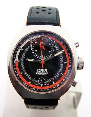 S/Steel Mens ORIS CHRONORIS Date Automatic Watch 7564 Cal 672* MINT Condition