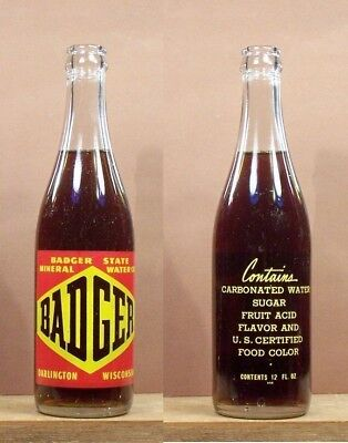 Badger Old Vintage AC 12 ounce ounce Soda Pop Bottle Darlington Wisconsin 311