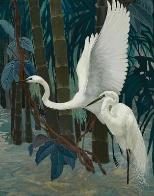 Egrets by Jessie Botke  Paper Print Repro