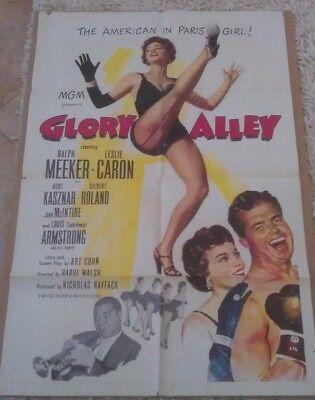 GLORY ALLEY MOVIE POSTER 1 SHEET 1952 ORIGINAL 27x41 RALPH MEEKER