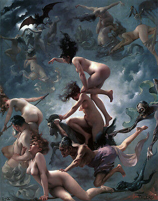 Witches going to Their...  by Luis Ricardo Falero   Giclee Canvas Print  Repro
