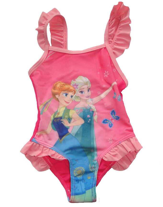 Mädchen Badeanzug Frozen die Eiskönigin Anna Elsa Kinder Badehose schwimmen Neu