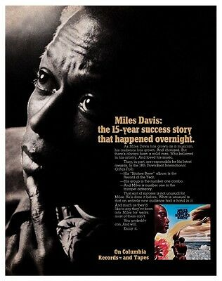 Miles Davis POSTER Bitches Brew Promo Image AMAZING Jazz Ad Pic