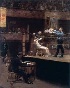 Between the Rounds   by Thomas Eakins   Giclee Canvas Print Repro